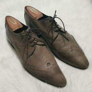 Zara Shoes - Zara Mens Grey Wingtips SZ 9